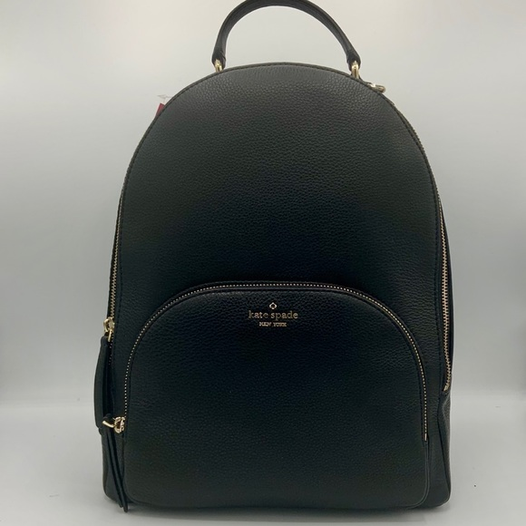 kate spade Handbags - 🎄NWT KATE SPADE Large Black Leather Backpack